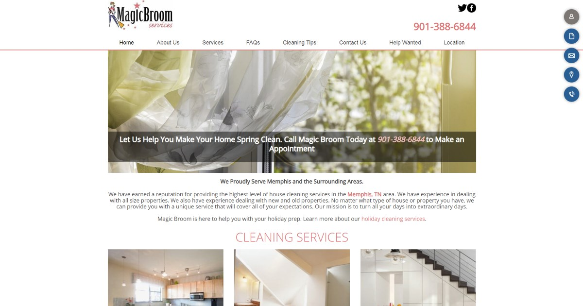 Magic Broom Located In Memphis Tn Magic Broom Services